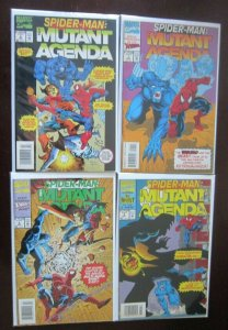 SpiderMan Mutant Agenda comic set #0 to #3 all 4 different books 8.0 VF (1994)