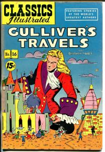 Classics Illustrated #16 HRN 89 1944-Gilberton-Gulliver's Travels--VF-