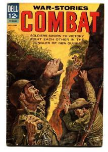 Combat #8 1963-Dell-Sam Glanzman art-WWII-Jungles of New Guinea-VG