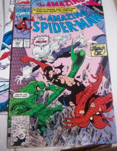 Amazing Spider-Man # 342 powerless pt 2 black cat scorpion