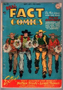 REAL FACT COMICS #16-TOMMY TOMORROW-WESTERN-DC-GOLDEN AGE VG-