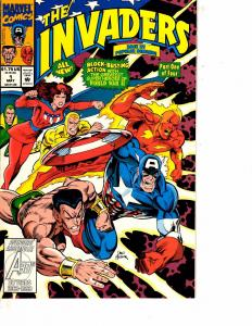 Lot Of 2 Comic Books Marvel Invaders #1 and Iron Fist #1   MS17