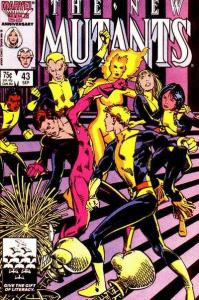 New Mutants (1983 series) #43, NM- (Stock photo)
