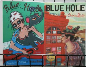 Blue Hole by Christine Shields (1995) #1, 2 Adventures Mishaps Feminist Comics