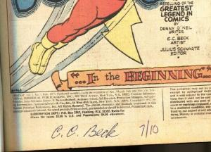 SHAZAM #1-CC BECK SIGNED AND NUMBERED-1973-DC CAPT MARVEL-SUPERMAN-vf-