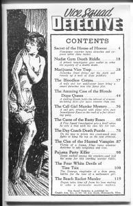 Vice Squad Detective #1 1986-1st issue-bizarre & lurid pulp reprints-VF/NM