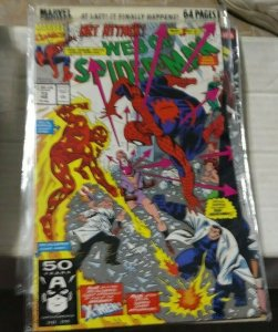 Web of spider-man # 73  1991 marvel  x-men the headmen colossus+john byrne
