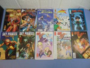 Lot of Ten Image Comic Books Lethal Saffire Sky Pirates Neo Terra Rumble Girls +