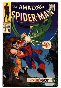 AMAZING SPIDER-MAN #49 comic book KRAVEN-VULTURE-MARVEL fn+