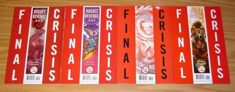 Final Crisis: Rogues' Revenge #1-3 VF/NM complete series + second print variant