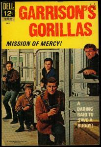 Garrison's Gorillas #3-TV Photo cover- Dell Comic FN