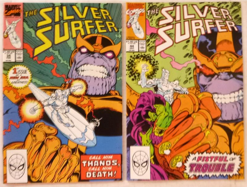 SILVER SURFER #1-13, 16-78, Annuals #1-5 (Marvel,1987-93) Nice 81-issue lot