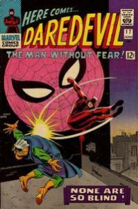 Marvel Comics Daredevil #17 Stan Lee Story Spider-man VF