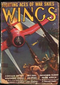 WINGS PULP-FALL 1943-ANTI-JAPANESE CVR-FICTION HOUSE! G