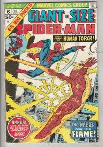 Giant-Size Spider-Man #6 (Jan-75) VF/NM Super-High-Grade Spider-Man