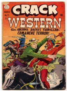 Crack Western #77 1950- The Whip- Arizona Raines G/VG