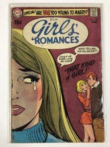 GIRLS ROMANCES 149 FAIR June 1970 COMICS BOOK