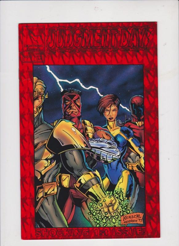 JUDGEMENT DAY V1 #1 1993 RED PRISMATIC COVER