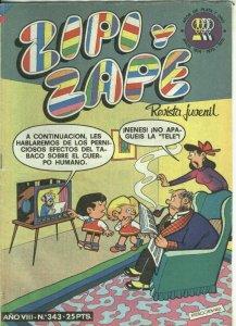 Zipi y Zape semanal numero 343: Un problema de locomotaras
