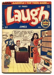 Laugh #37 1950- Archie- Betty- Veronica- low grade