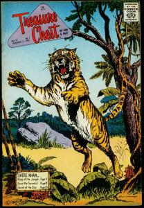 Treasure Chest Vol 21 #7 1965- Tiger cover- Shere Khan FN