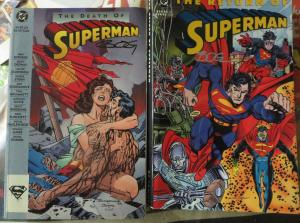 Death and Return of SupermanTrade Paperbacks TPBs Autographed by Jon Bogdanove