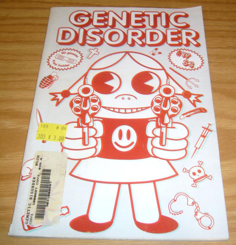 Genetic Disorder #17 FN hard to find punk music 'zine COACHWHIPS INTERVIEW 80pg