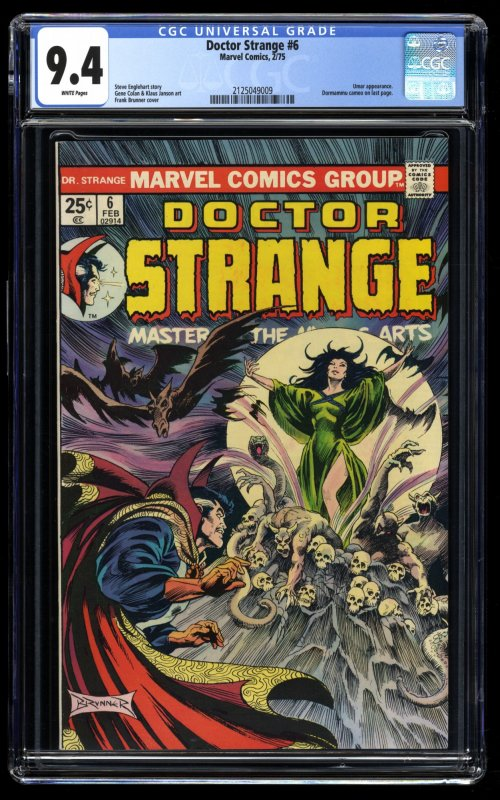 Doctor Strange #6 CGC NM 9.4 White Pages Marvel Doctor