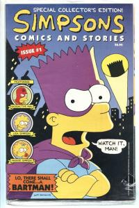 Simpsons Comics and Stories #1 -1993-Bartman-Includes poster-comic book