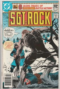 Sgt. Rock #344 (Sep-80) NM- High-Grade Sgt. Rock, Easy Co.