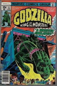 Godzilla #6 (Marvel, 1978) NM