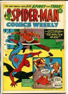 Spider-Man Comics Weekly #22 1973- British- Molten Man VG