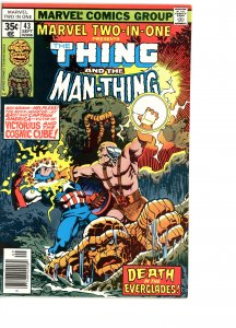 Marvel Two-In-One 43 F/VF   Man-Thing!
