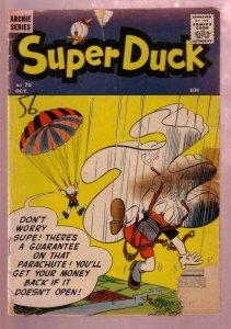 SUPER DUCK #70 1956-PARACHUTE COVER-ARCHIE COMICS PUB. FR