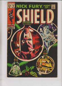 Nick Fury, Agent of S.H.I.E.L.D. #10 FN march 1969 - hate-monger - marvel comics