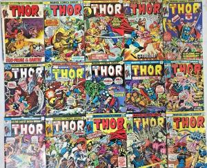 THOR#202-292 FN-VF LOT 1972-78 (30 BOOKS) MARVEL BRONZE AGE COMICS