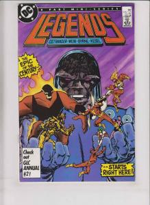 Legends #1 VF/NM john byrne 1st appearance of amanda waller (from suicide squad)