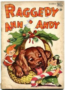 RAGGEDY ANN AND ANDY #19 '47-DELL COMICS-COCKER SPANIEL VG