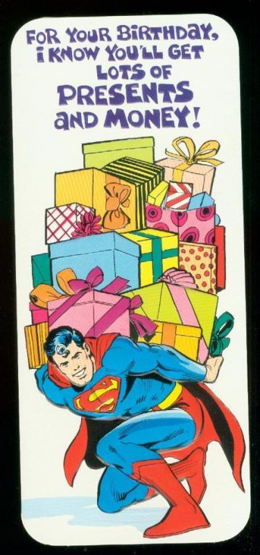 NEAL ADAMS SUPERMAN  BIRTHDAY CARD #13 1978 NM