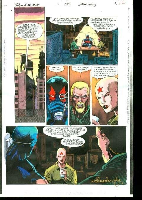 Original D.C. Color Guide Shadow Of The Bat #35 Pg 9