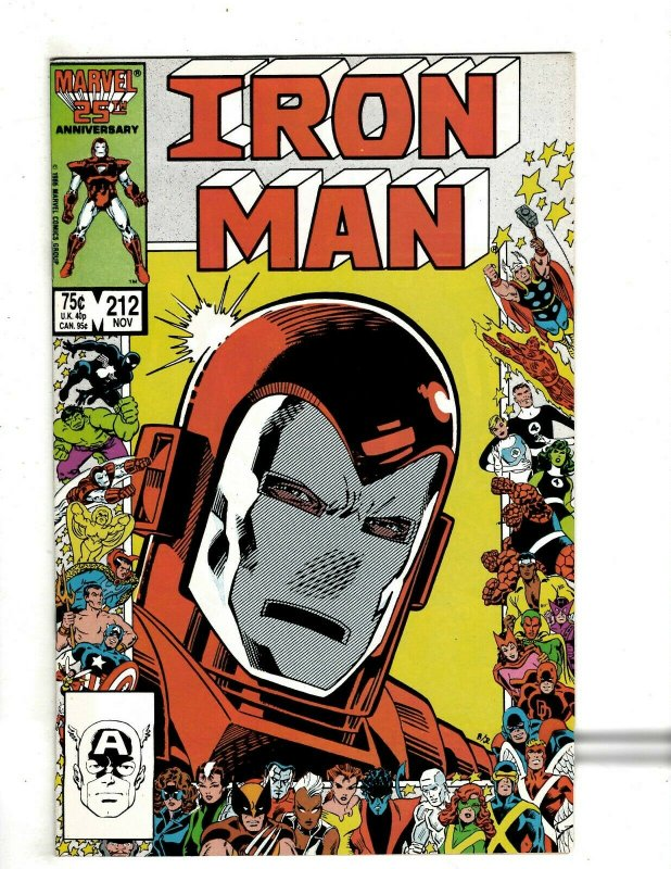 12 Iron Man Marvel Comics # 211 212 213 214 215 216 217 218 219 220 221 222 RB2