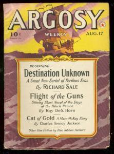 ARGOSY-PULP-AUG 17 1940-SHIP COVER-SCI FI FANTASY ISSUE VG