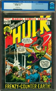 Incredible Hulk #158 CGC Graded 9.0
