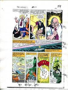 Avengers #222 1982 Hand Painted  Colorguide Page 11-explosion art-VG