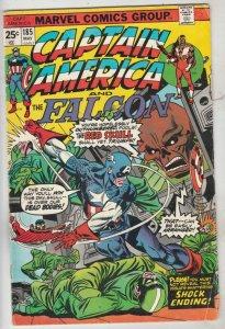 Captain America #185 (May-75) VG/FN Mid-Grade Captain America
