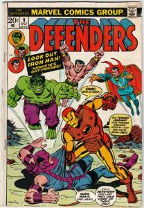 Defenders, The #9 (Oct-73) VG+ Affordable-Grade Hulk, Dr. Strange, Silver Sur...
