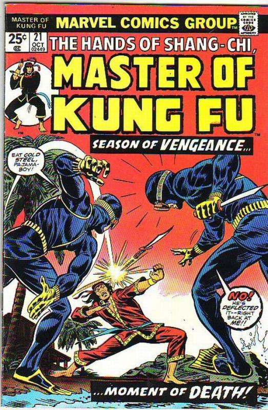 Master of Kung Fu, the Hands of Shang-Chi #21 (Oct-74) VF/NM High