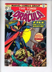Tomb of Dracula #28 (Jan-75) FN/VF+ High-Grade Dracula