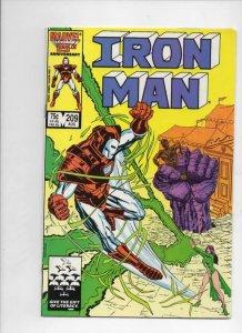 IRON MAN #209, VF+ Tony Stark, Magic, 1968 1986, more IM in store, Marvel