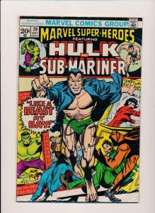 Marvel Super-Heros ft.THE INCREDIBLE HULK and Sub-Mariner #39  FINE (SRU545)